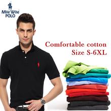 Pequeño caballo 2015 nuevos hombres ocasionales del polo Ralph shirt logotipo de la marca de moda sólido de manga corta camisa de polo calidad Cozy hombres de algodón(China (Mainland))
