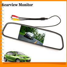 [SALE] Univeral 4.3 Inch Color TFT LCD Parking Car Rear View Mirror Monitor 4.3'' Rearview Monitor for Backup Reverse Camera(China (Mainland))