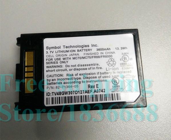 Free shipping New Genuine 3.7V 3600mAh 13.3Wh MC70 Battery for Symbol MOTOROLA MC75 FR68 MC7090 MC7004 82-71364-03 82-71364-05(China (Mainland))