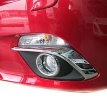 Buy 2014 2015 MAZDA 3 Axela BM BY ABS Chrome Front Fog Light Eyebrow Eyelid Fog Light Lamp Cover Trim Car Accessories 2pcs/set for $20.99 in AliExpress store