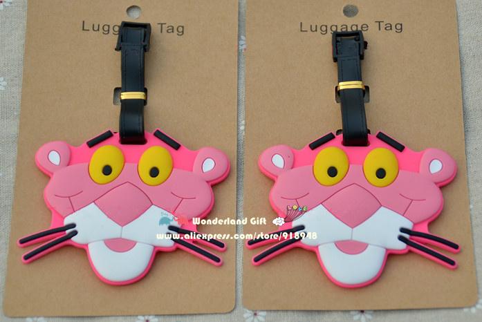 NEW 2pcs/set cartoon star naughty silly cat anime luggage tag BAG TAG School bag key chain ring kid toys Christmas gift girls(China (Mainland))