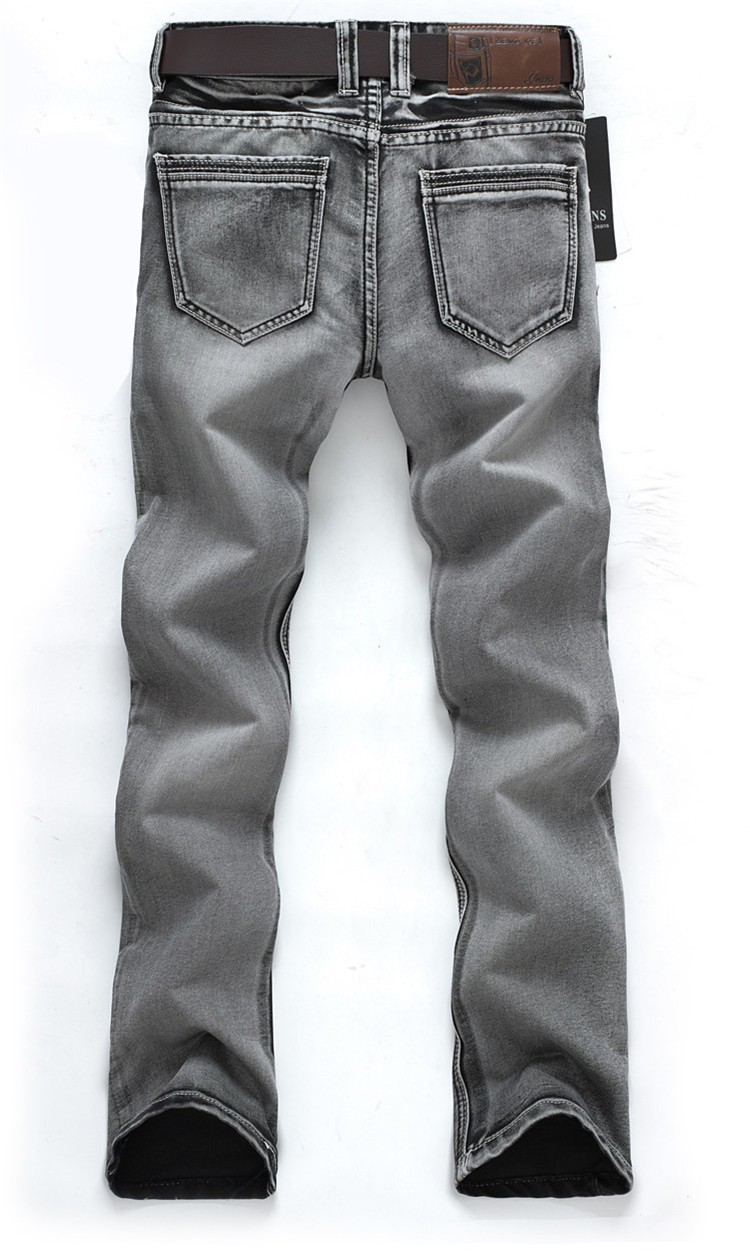 Man's Popular Jeans 2015 Regular Water-washed High Quality Light Grey Plus Size 28-38 For Male Wholesale 119(China (Mainland))