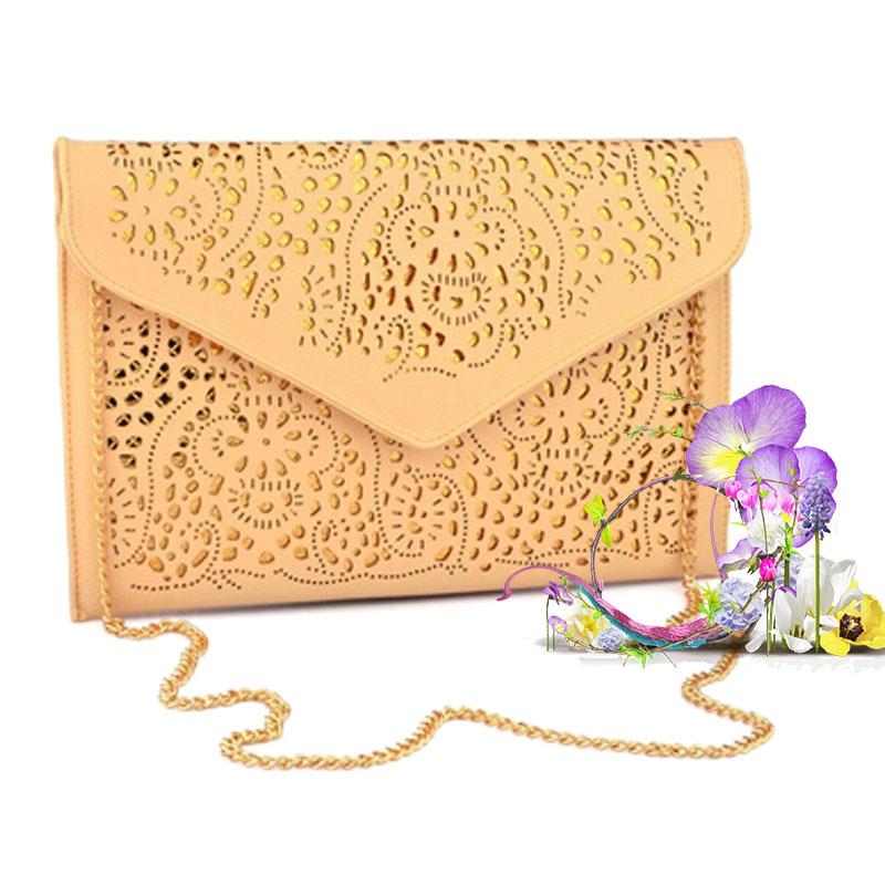 2015 Fashion National Women leather purses and handbags Cutout Envelope Clutch Bag Shoulder women Messenger Bags bolsa feminina<br><br>Aliexpress