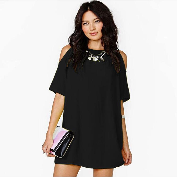 Brilliant 2016 Plus Large Size Loose Dresses Women39s Fashion Hollow Out Black
