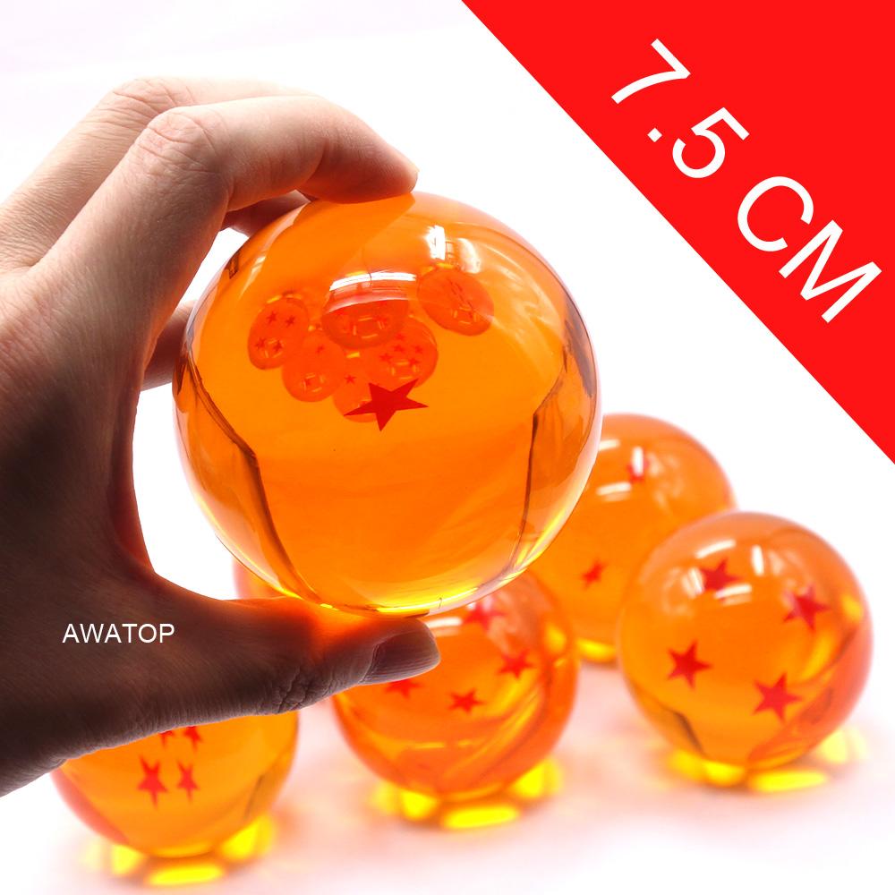 7 5cm 7cm big size 1 2 3 4 5 6 7 star dragonball dragon ball crystal balls z action figures. Black Bedroom Furniture Sets. Home Design Ideas
