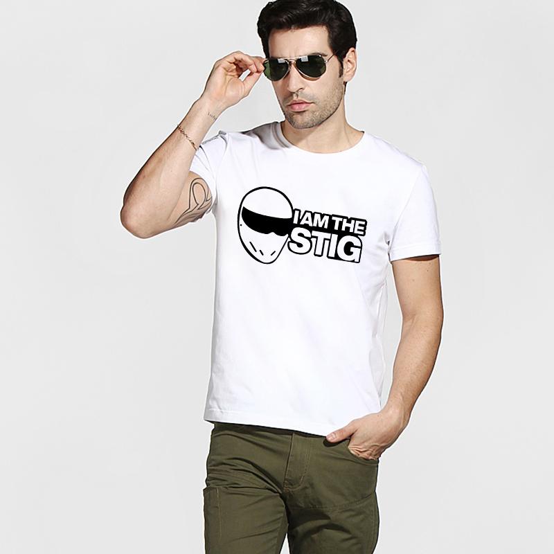 Free Shipping Top Gear I Am Stig T-shirts Summer Graphic New Cotton Men T Shirts Short Sleeve Personality Clothing Tees(China (Mainland))