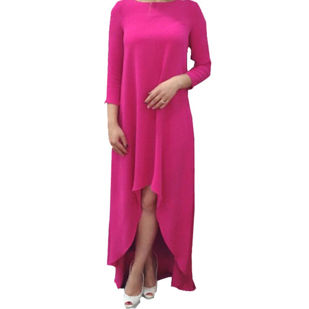 aliexpress   buy hot pink back cut out dress high low dress three