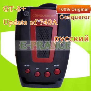 100% Original  Conqueror GT-8+ Car Radar Detector with Russian Voice Alarm Systems X , K, KA, KU, Ultra X, Ultra K Band