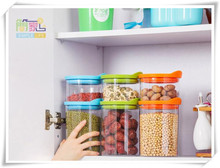 kitchen airtight canister 1300ml  can store grain/ food storage tank Snacks bottle receive transparent plastic grains seal pot(China (Mainland))