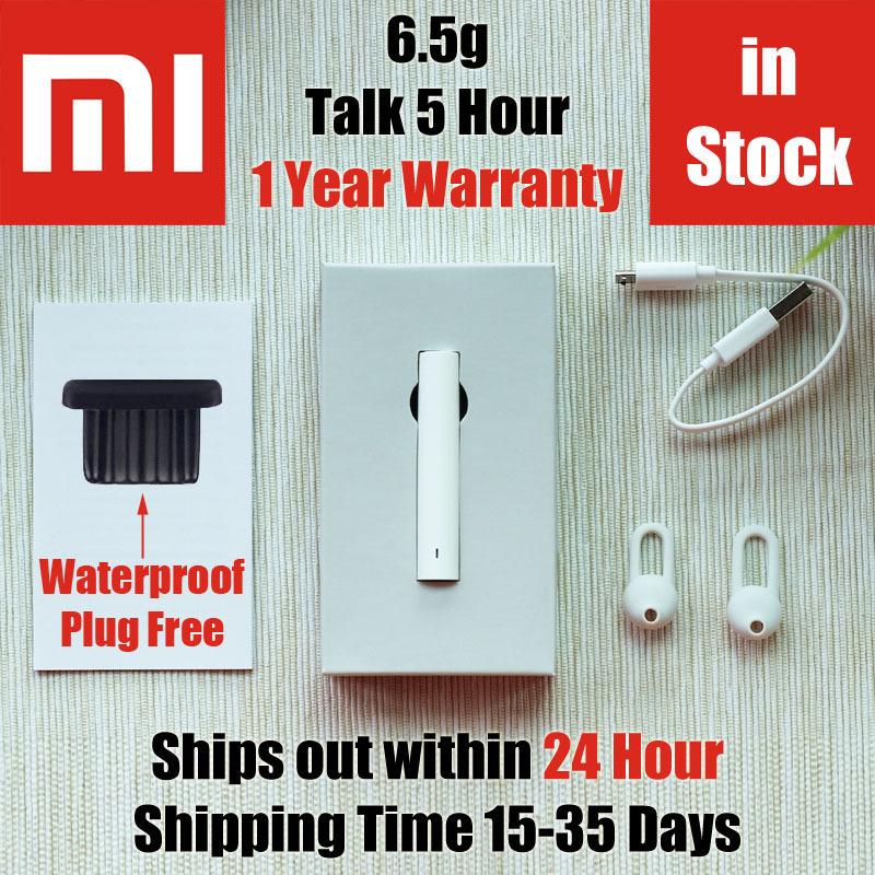 19.79 only 24 hours Ships LYEJ01LM 100% original xiaomi bluetooth earphone CSR8610 V4.1 headset 6.5g wireless headphone