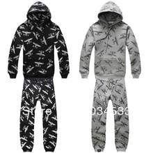 NEW BOY LONDON Hip-Hop Dance RAP ROCK Street Fashion Plus Velvet Hooded Sweater Suit(China (Mainland))