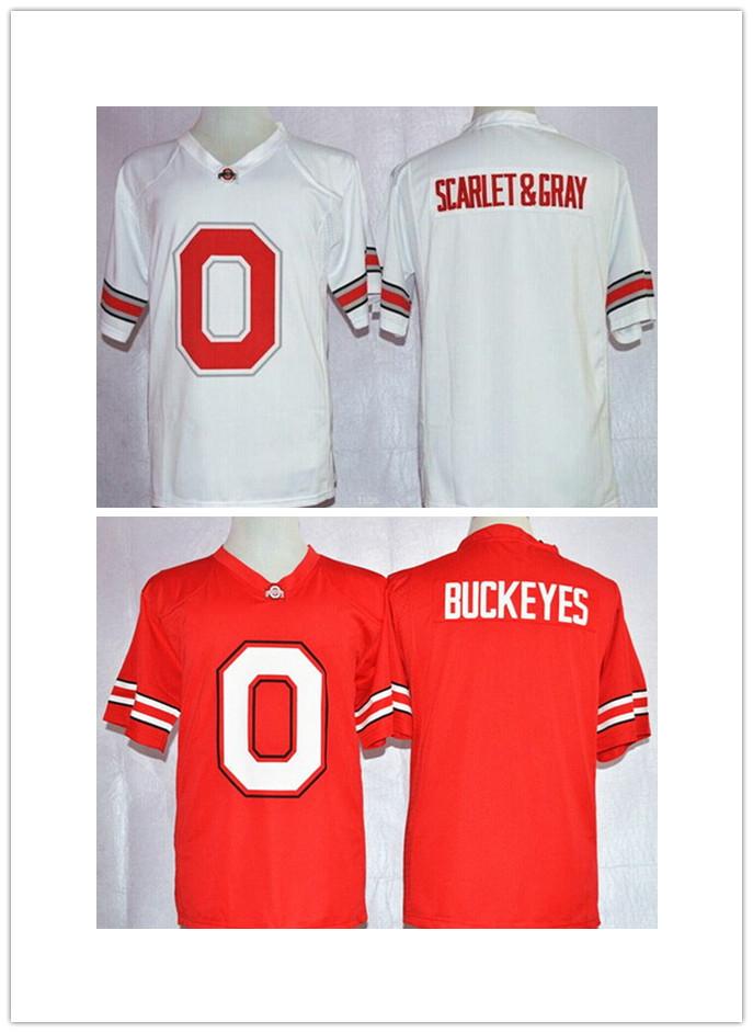 top Quality College Football Jerseys Ohio State Buckeyes Blank Buckeyes Team Pride Fashion White Jersey free shipping(China (Mainland))
