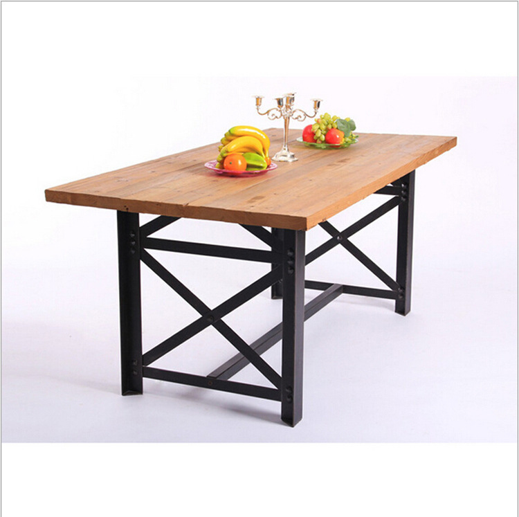 Coffee cafe tables and chairs, wrought iron table vintage wood furniture wood conference table desk(China (Mainland))