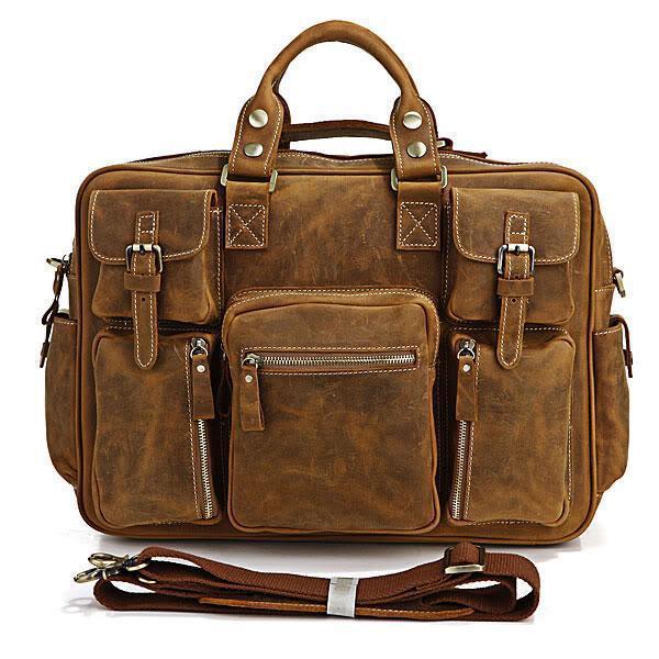 Здесь можно купить  Free Shipping Crazy Horse Leather Laptop Bag Men