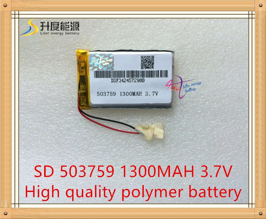 Liter energy battery navigator shipping 503759 1300MAH lithium battery 3.7V 7 inch e general Lu hang series large capacity(China (Mainland))