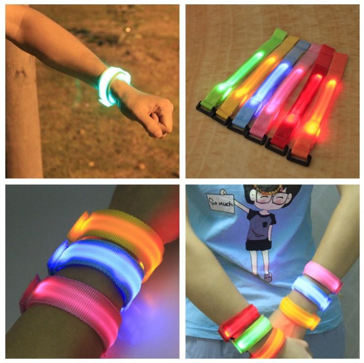 DHL free shipping 50pcs Party decoration Led Wrist Band Running Safety Glow Belt Light Arm Band led wrist straps light(China (Mainland))