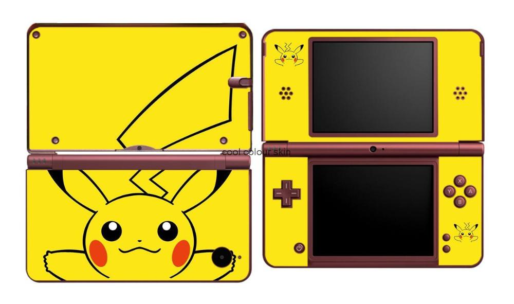 Pikachu 307 Vinyl Skin Sticker Protector for Nintendo DSI XL LL for NDSI XL LL skins Stickers(China (Mainland))