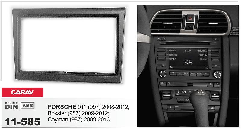 CARAV 11-585 Top Quality Radio Fascia for PORSCHE 911 (997) ,Boxster ,Cayman (987) Stereo Fascia Dash CD Trim Installation Kit