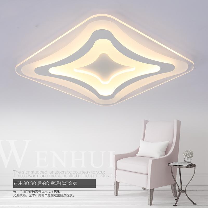 Modern minimalist led ultra-thin ceiling lamps rectangular bedroom living room study room Dining room restaurant lighting(China (Mainland))