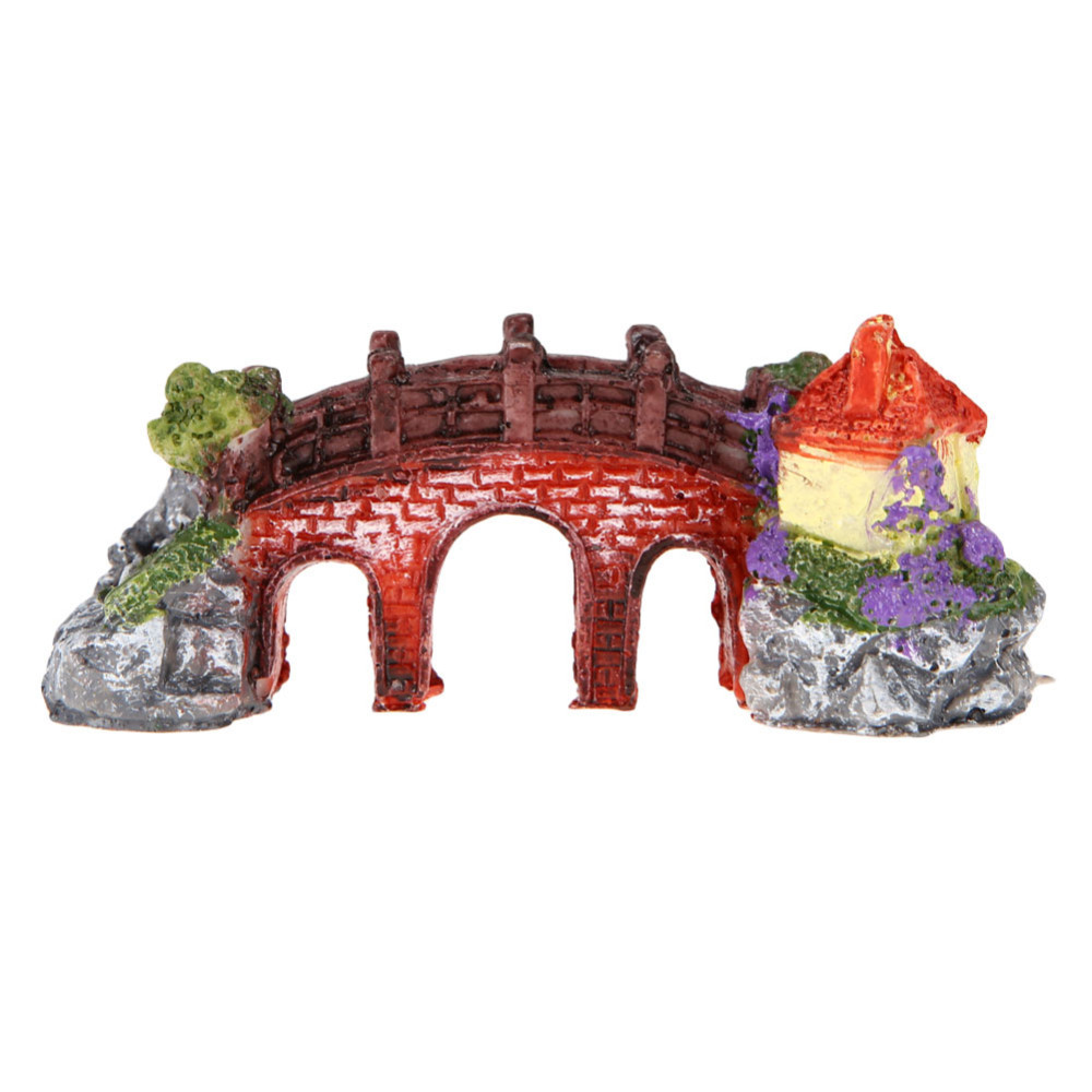 New pets resin rockery fish tank ornament aquarium decor for Aquarium bridge decoration