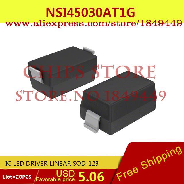 Free Shipping IC Integrated Circuit NSI45030AT1G IC LED DRIVER LINEAR SOD-123 45030 NSI45030 20pcs(China (Mainland))