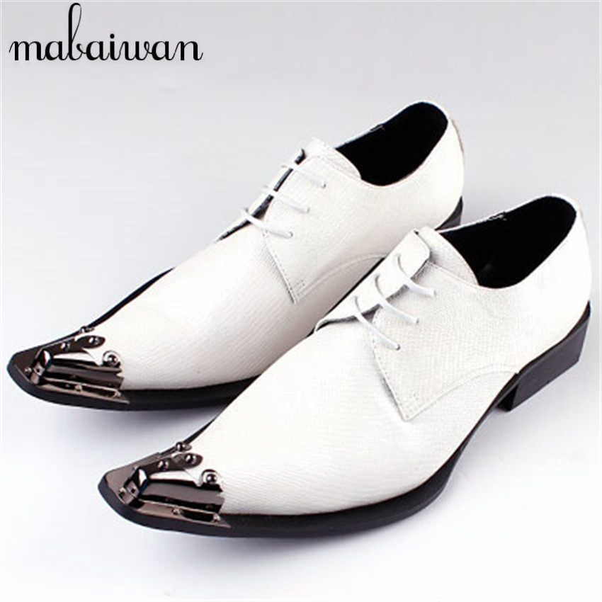 White Suit Match Men Genuine Leather Oxfords Lace Up Mens Prom Wedding Dress Shoes Business Leather Shoes Chaussure Homme(China (Mainland))
