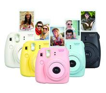 Fujifilm Instax Mini 8 Pink Black Blue Yellow White Grape Raspberry Fuji Instant Camera with FREE SHIPPING(China (Mainland))