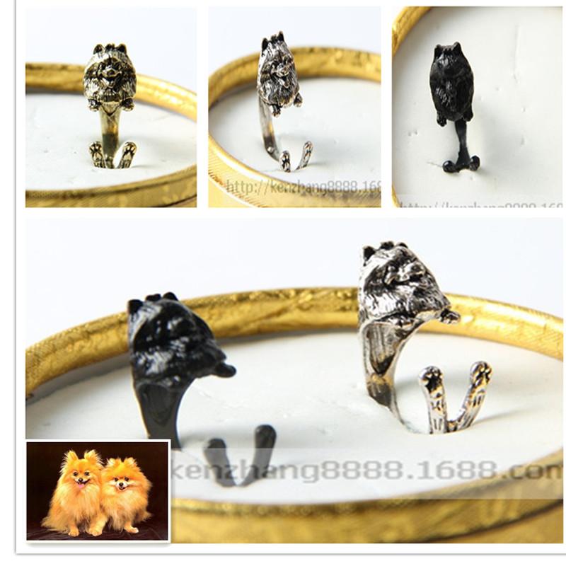 Free shipping Wholesale New design fantastic Pome ranian jewelry handmade adjustable Pomeranian ring <br><br>Aliexpress