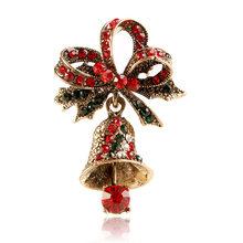סינדי שיאנג אופנה ריינסטון פעמון סיכות לנשים חמוד פסטיבל סיכות תרמיל מעיל וזר פרחים אביזרי תכשיטי חמה מכירות(China)