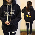 Casual Mouse Printing Letter Women S Hoodies Pullover Loose Sweatshirt Female Bottom Cartoon Fleece Tops Feminina