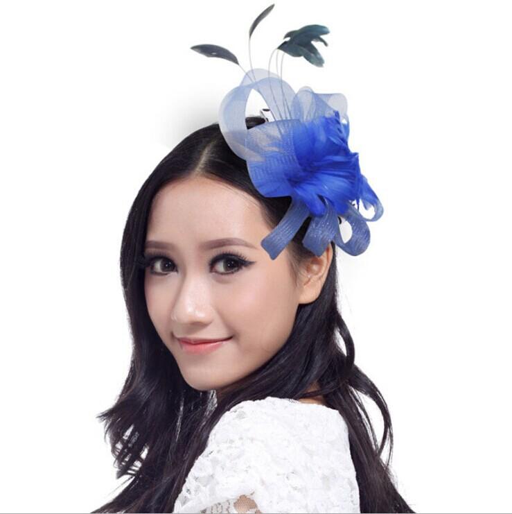 New Sinamay Church Feather Mesh Veil Large Disc Women Fascinator Hat Headband(China (Mainland))