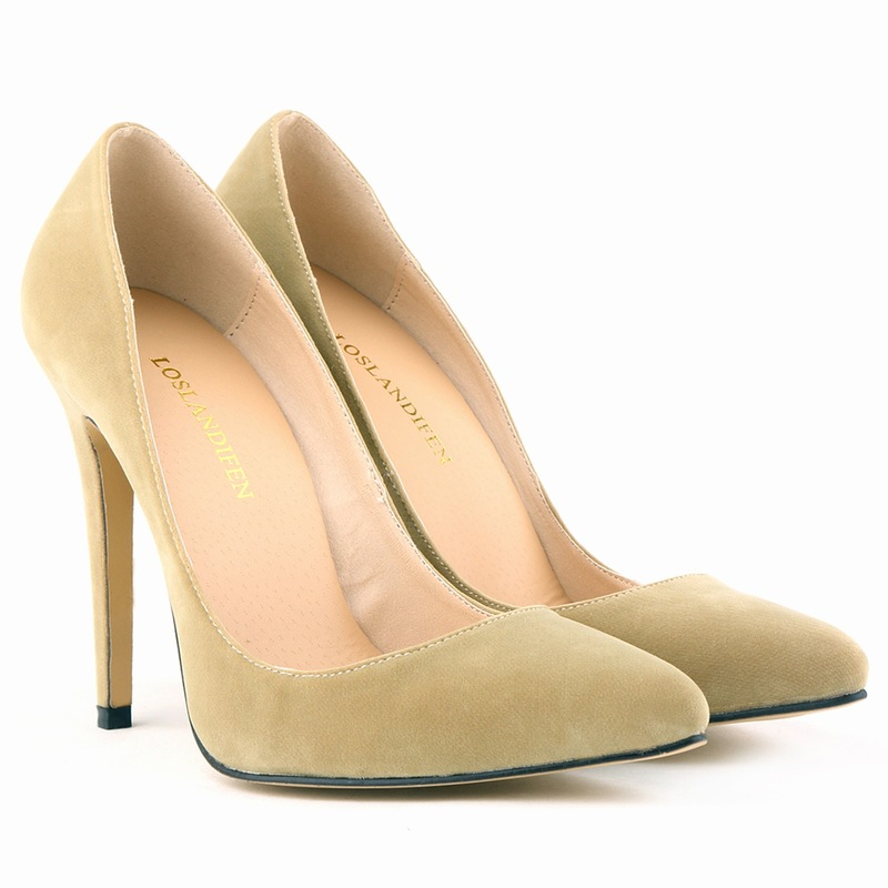 SMYNLK-0017D Top Quality Very Thin High Heels Women Pumps Red Bottom High Heels Pointed Toe Black Nude Sexy Women Ladies(China (Mainland))
