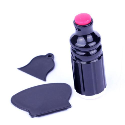 1PC Nail Art Tool XL Stamper + 2 Scraper Set Kit Stamp Stamping Device Plate Nail Art DIY Tools(China (Mainland))