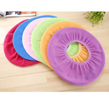 Buy Antibacterial Warm Toilet Mats Soft Flocking O-shaped toilet pads Elastic Design Comfortable Seat Cover Home Bathroom Products for $2.94 in AliExpress store
