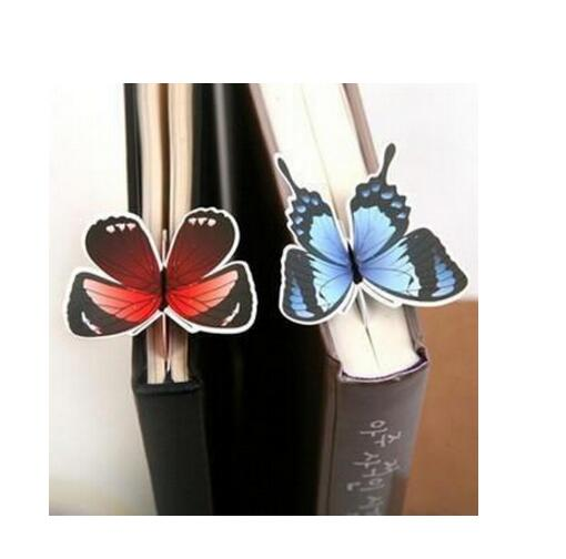 5 Piece classic Butterfly marcador de livro papelaria material escolar paper bookmarks for books markers holder school cute gift(China (Mainland))