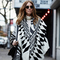 2015New Arrival Luxry Brand Thicken Vintage Geometric za Winter Scarf Ethnic Stole Kerchief For Woman Fashion