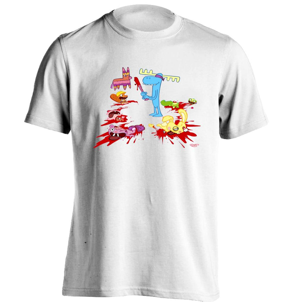 Bloody Cartoon Happy Tree Friends Mens & Womens Printing T Shirt Custom T Shirt(China (Mainland))
