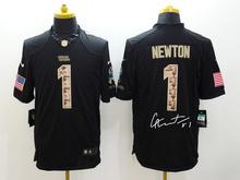 A+++ all stitched ,Carolina panthers signature #1 Cam Newton(China (Mainland))