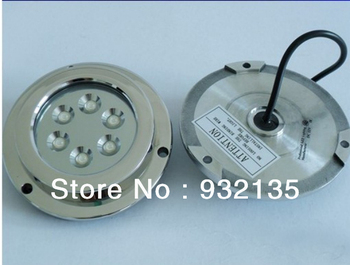 1 pcs  6W BLUE Color Stainless Steel, IP68 Underwater Yacht Boat Marine LED Light