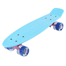 DHL FREE Freestyle 22 Inches Mini Cruiser Banana Style Longboard Pastel Color Fish Skateboard with LED Flashing Wheels 5 Colors(China (Mainland))