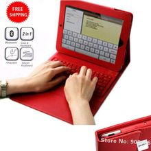 """2016 wireless Bluetooth 2.0 Qwerty Keyboard for 9.7"""" tablet Folding Leather Stand Holder Case for ipad 2 3 4(China (Mainland))"""