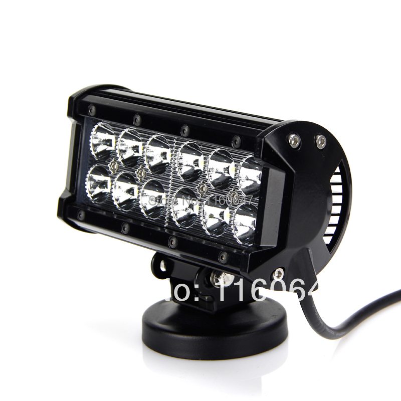 36W LED Light Bar CREE LED Offroad Light Spot Flood 2800lm 12X3W LED Light Bars Work Lamp for Vehicles Ship Truck Tractor ATV(China (Mainland))