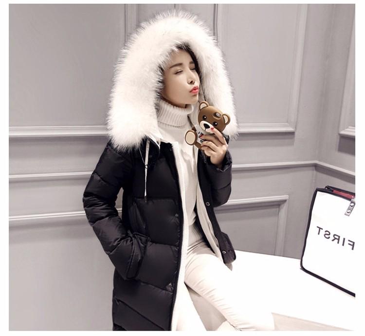 Hot sales women coat 2016 fashion Women Winter coat Female Slim long Down cotton Wadded Coat Women Hoodies Parkas Plus Size