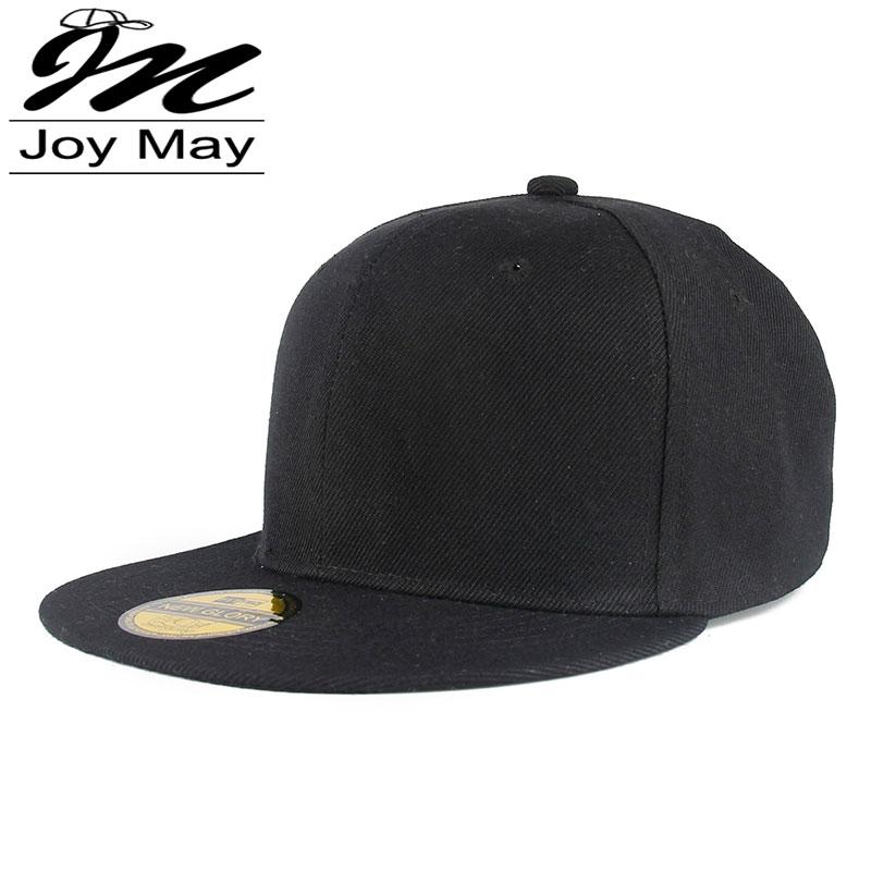 Adjustable Men Women Baseball Cap Solid Hip Hop Snapback Flat Peaked Hat Visor X117(China (Mainland))