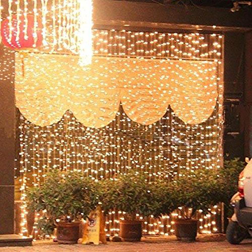 rideau lumineux led blanc chaud pour mariage