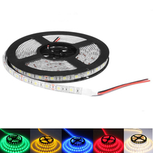 5050 SMD RGB Led Strip Light 60Leds/M DC 12V Non /ip65 Waterproof Kitchen Cabinet Counter LED Tape white red pink blue lamp(China (Mainland))