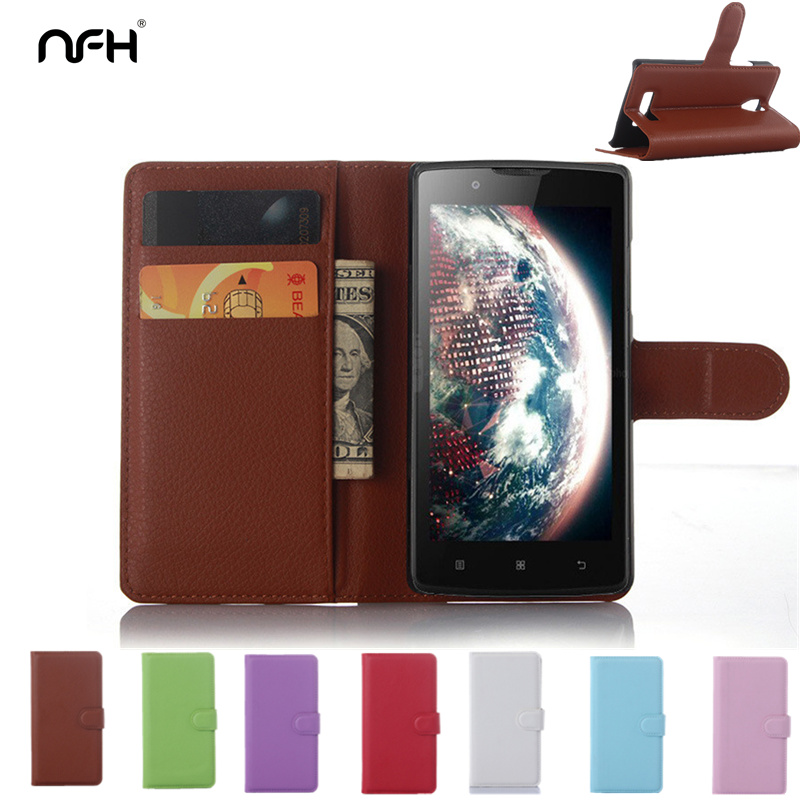 Litchi Leather Case For Lenovo 2010 Angus 2,Retro Flip Wallet+2 Card Holder Cover For Lenovo A2010 A 2010 Phone Case Brown Black(China (Mainland))