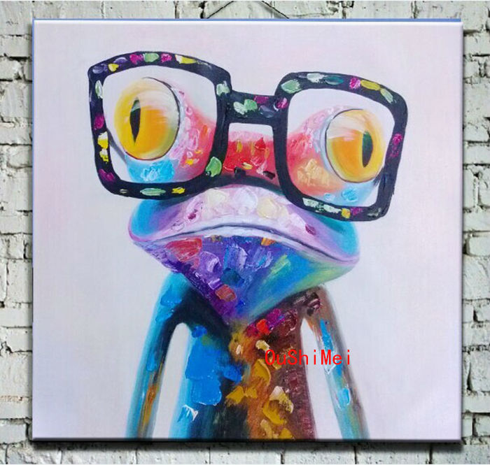 Oil Painting Sunglasses Abstract Oil Painting Frog