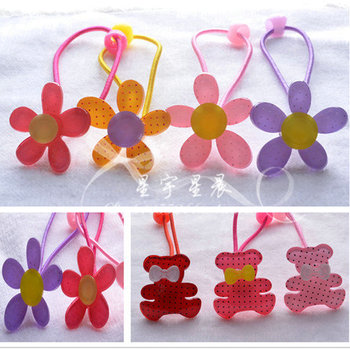 free shipping child/kids/grils/baby hair accessory hairpin crystal princess hairpin hari clip bear & flower hair rope headband