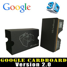 Black Google Cardboard 2 2.0 Virtual Reality VR 3D glasses toolkit Rift Oculus for 3.5-6″ Smart Phone 3D Game APP Movie